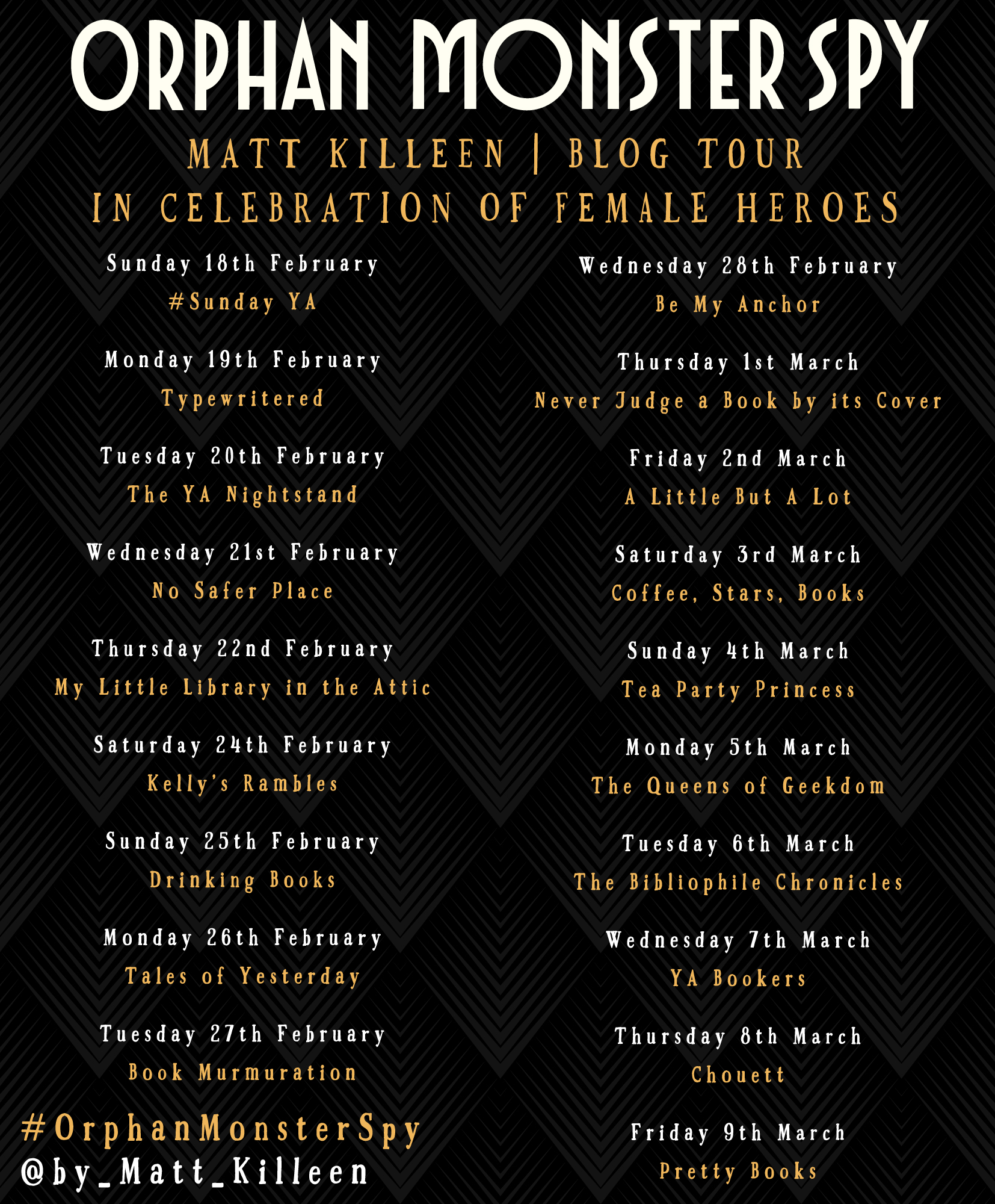 ORPHAN MONSTER SPY BLOG TOUR GRAPHIC